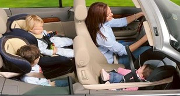 Bambini in auto, obblighi e sanzioni di legge